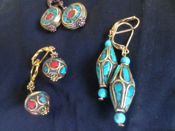 Diana Brugos pic 3 tibetan bead earrings