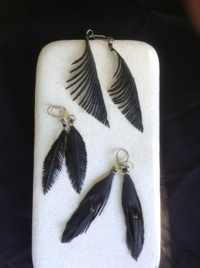 Diana Brugos rubber earrings pic 2