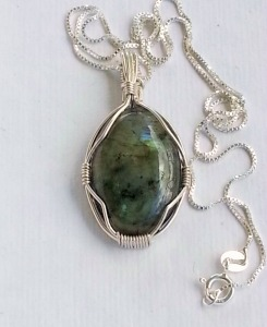 sterling and labradorite necklace
