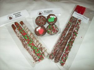 The Chocolate House photo xmas licorice,peanut butter cups and pretzels