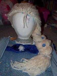 Elsa wig - base is a crocheted bamboo hat